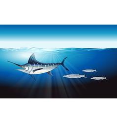 Atlantic blue marlin vector image vector image