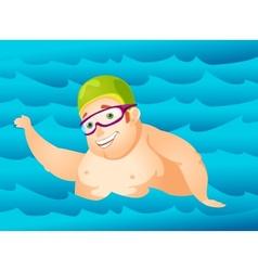 Cheerful Chubby Man vector image vector image