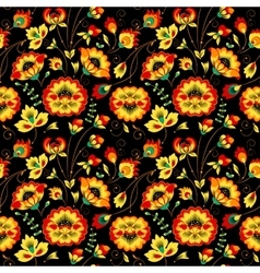 Floral seamless pattern in country style vector image vector image