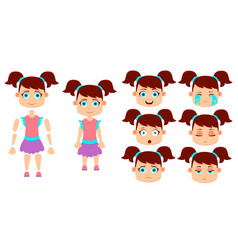 girl for animation vector image vector image