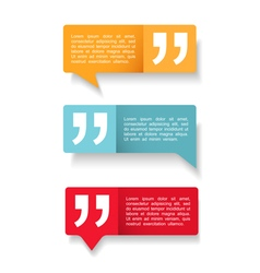 Speech Bubbles with Quotes vector image