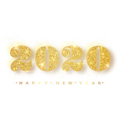 2020 happy new year gold numbers design of vector