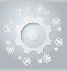 abstract background the system of gear vector image vector image