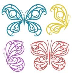Abstract butterflies vector image