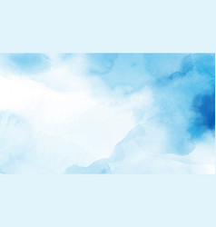 Abstract light blue watercolor for background vector
