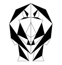 abstract low poly rhino icon vector image