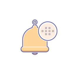 alarm alert alram bell icon call vector image