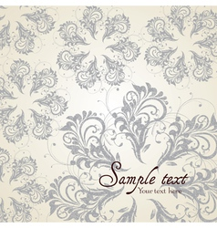 Background with Vintage Label vector image