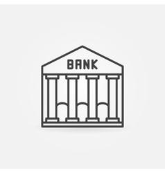 Bank line icon vector