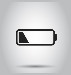 battery level indicator on gray background vector image