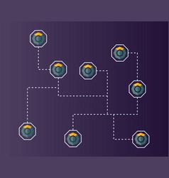 Blockchain komodo symbol technology networking vector