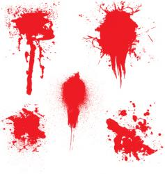 blood dribble vector image vector image