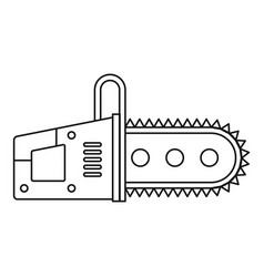 Chainsaw icon outline vector