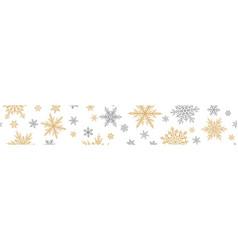 christmas banner snowflakes vector image