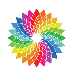 color wheel palette - flower shaped spectrum vector image