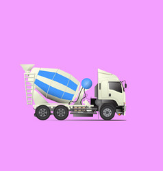 concrete mixer truck transported vector image