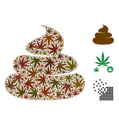 Crap collage of weed leaves vector