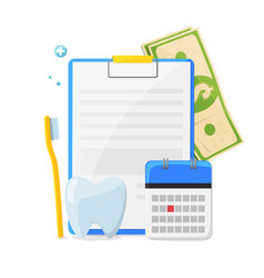 dental insurance dental care concept vector image