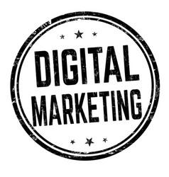 Digital marketing sign or stamp vector
