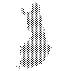 Dot finland map vector