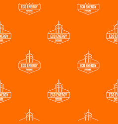 Eco energy pattern orange vector