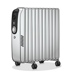 electric radiator cartoon design vector image