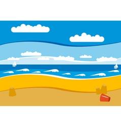 empty beach vector image
