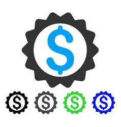 Financial seal flat icon vector