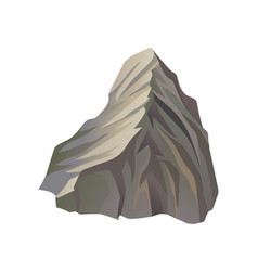 flat icon of high gray mountain with lights vector image
