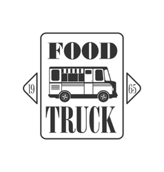 Food Truck Square Label Design vector