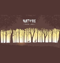 Forest tree vector