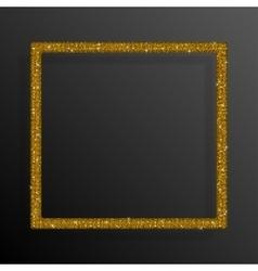 Frame Gold Sequins Square Glitter sparkle vector