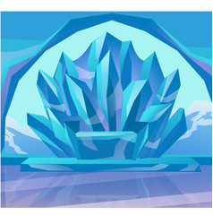 frozen throne and arch the interior ice vector image