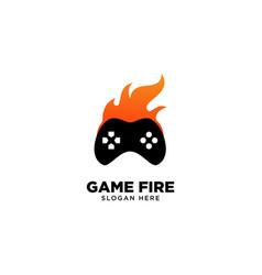 Game fire logo design vector