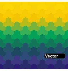 Geometric background in Brazil flag vector