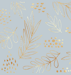 Gold flowers on a blue background vector
