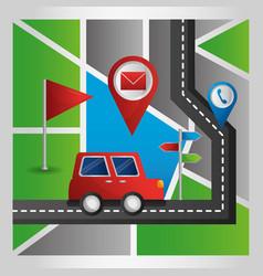 gps navigation application vector image