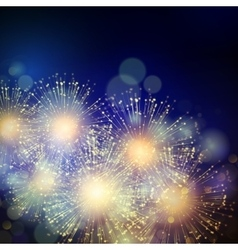 Holiday fireworks background vector