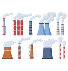 industrial chimney manufacturing vector image