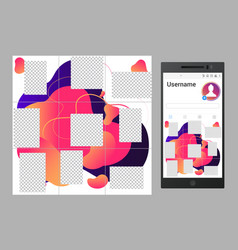 inspired instagram social media collage vector image