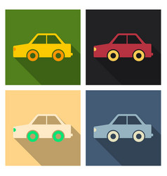 Kids toy car in flat style vector