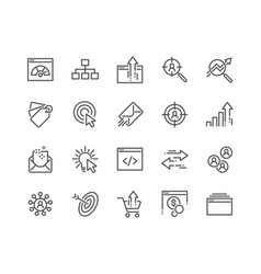 line seo icons vector image