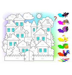 Logic puzzle game for children for study english vector