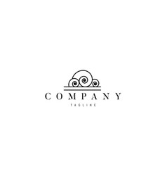 logo on which an abstract image elegant vector image