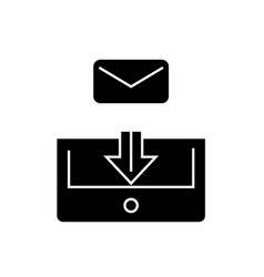 mail box post black concept icon mail box vector image
