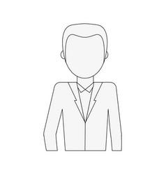 Man with blazer avatar portrait icon image vector