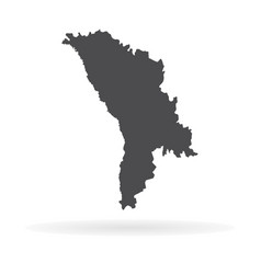 map moldova isolated black vector image