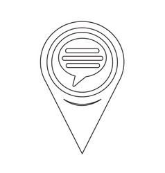 map pointer comment icon vector image