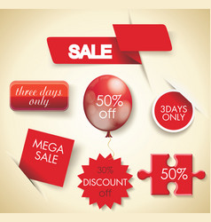 mega sale set of sale design elements vector image