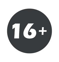 Monochrome round 16 plus icon vector image